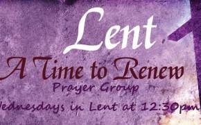 Let's Pray Together During Lent - Wednesdays at 12:30pm